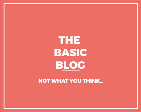 The Basic Blog : Not What You Think...
